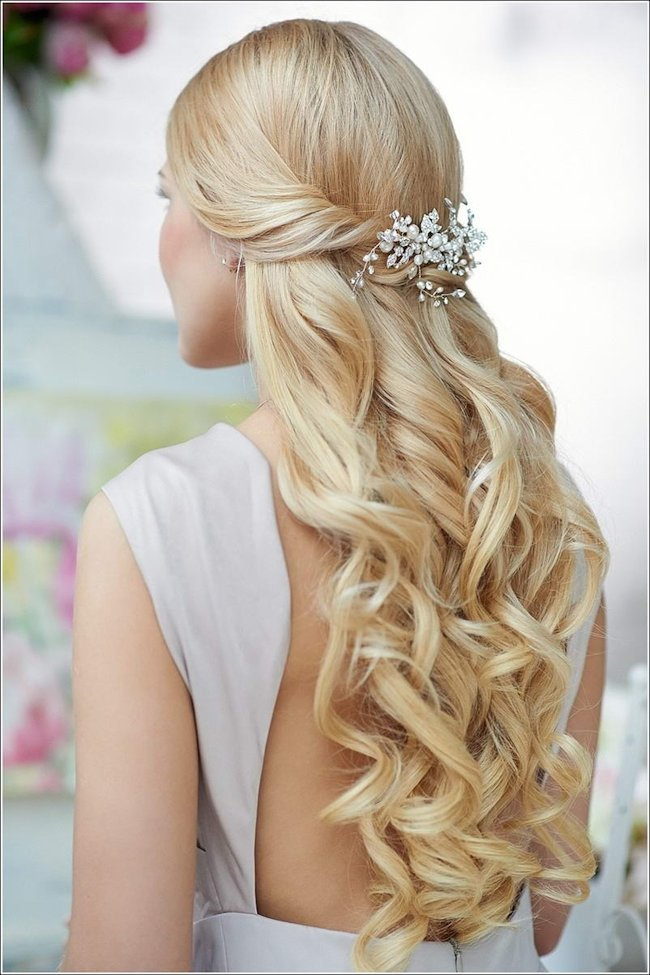 wedding hairstyle for bridal