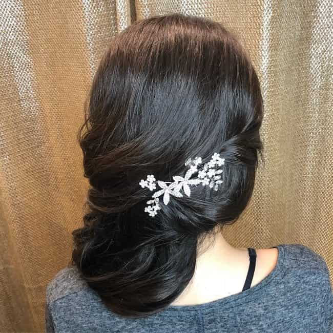 short hairstyle for bridal
