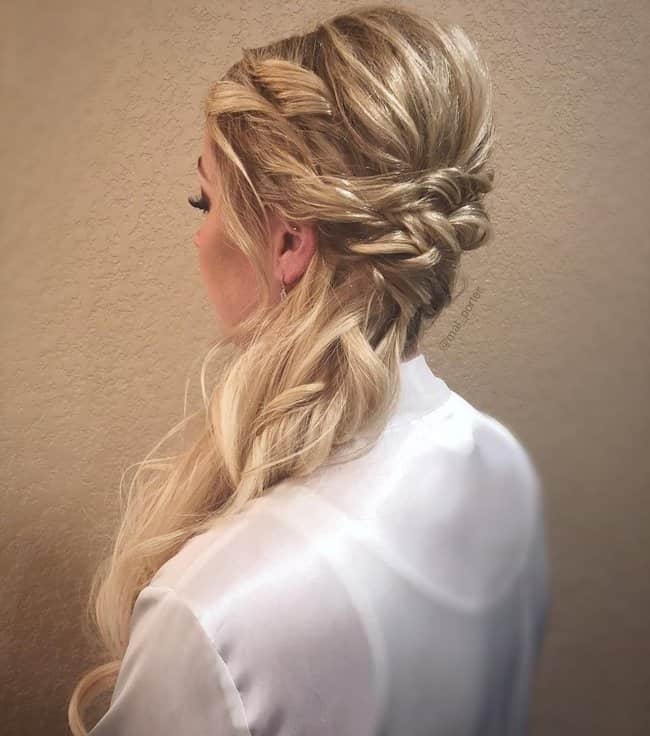 beautiful wedding hair style for long hair