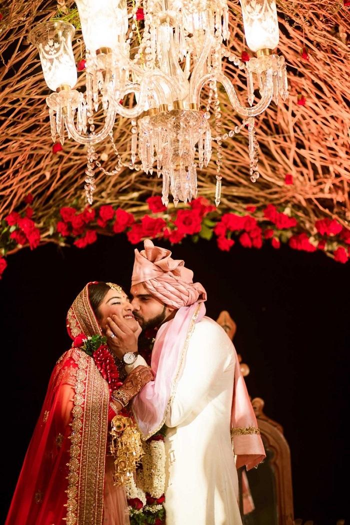 groom kissing bride cheek - sweet kisses pic