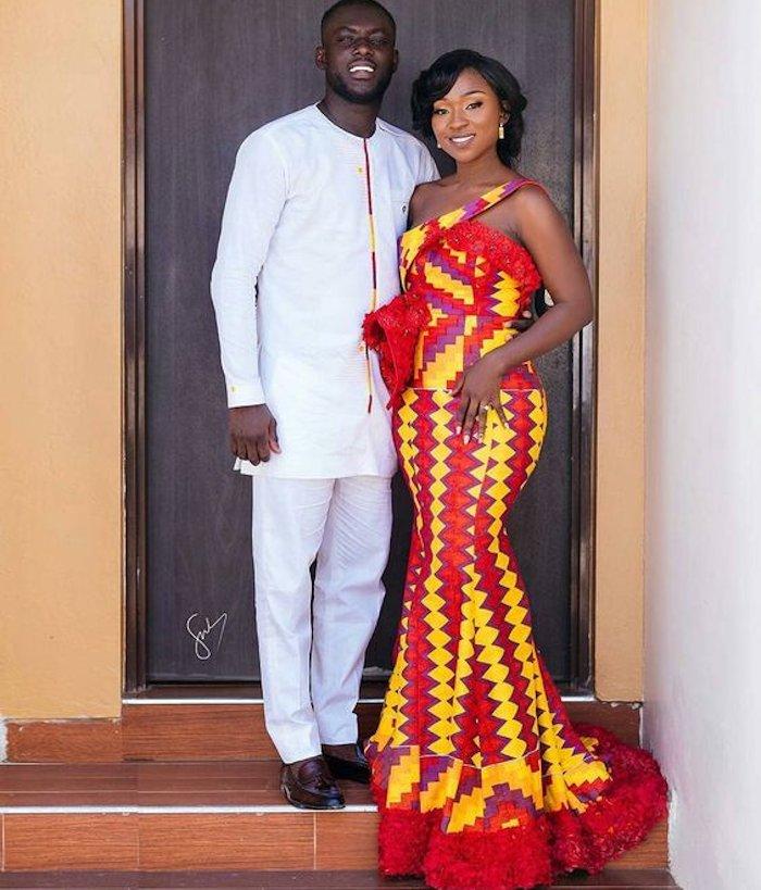 Ghana bridal wedding outfit