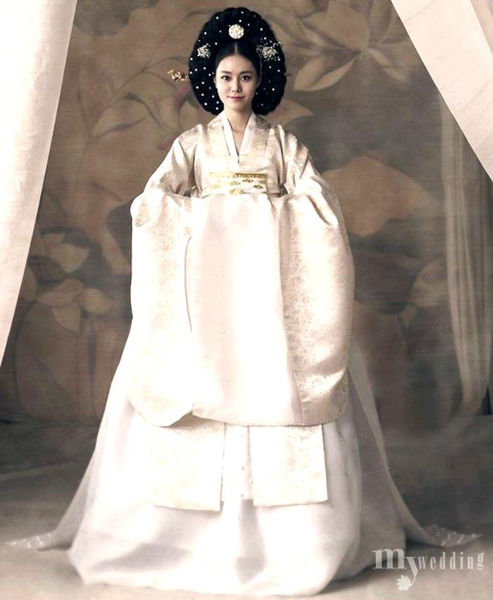 Korean bridal wedding outfit