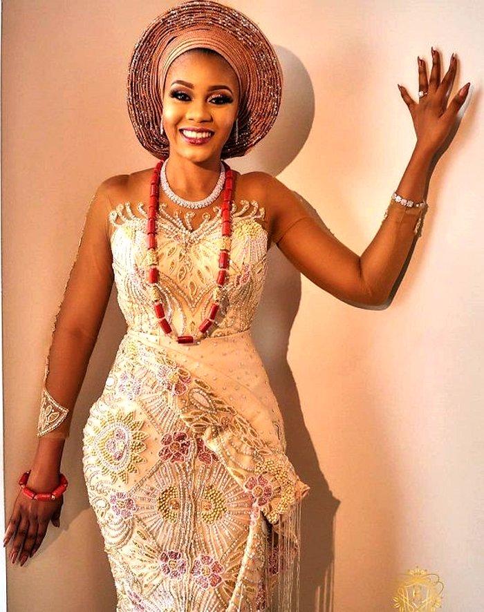 Nigerian bridal wedding outfit