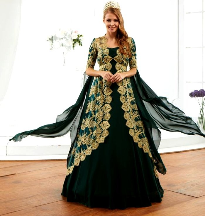 Turkish bridal wedding outfit