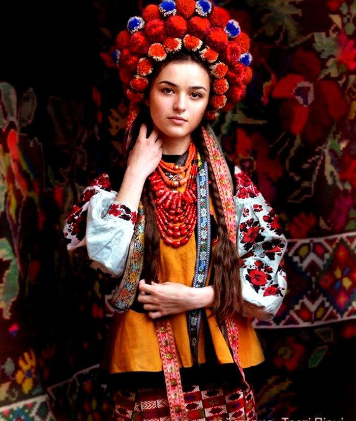 Ukraine bridal wedding outfit