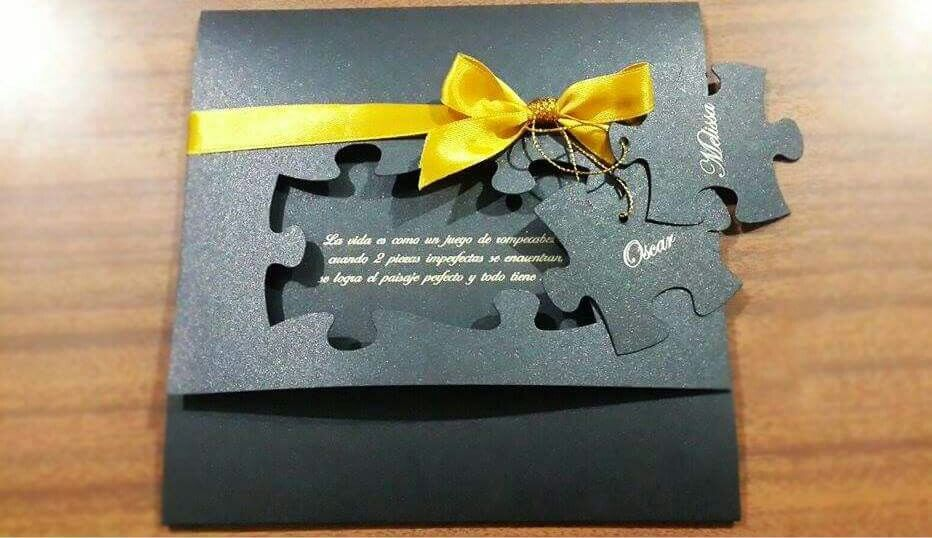 Puzzle Wedding Card