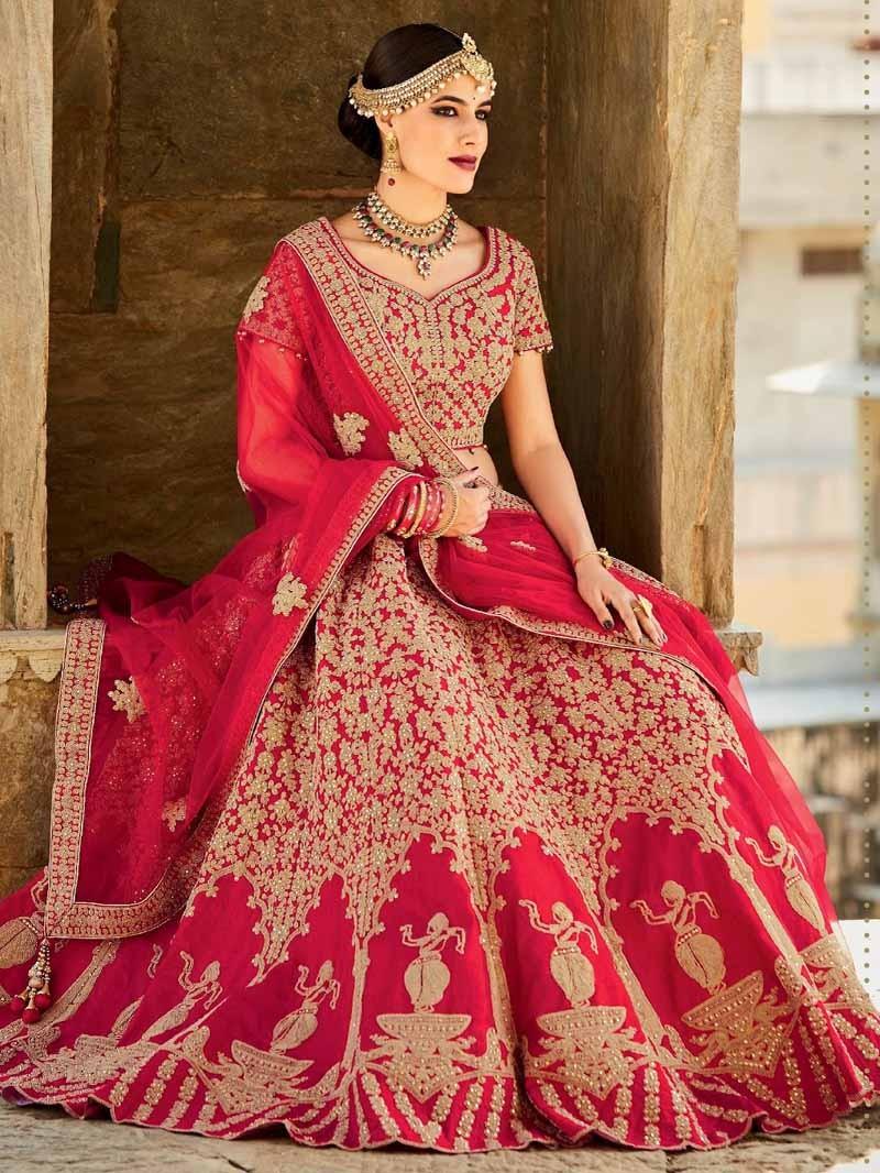 Choose Red Color For Bridal Dress