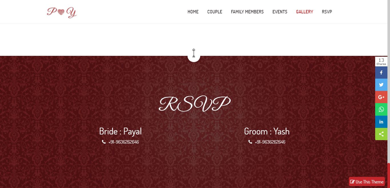 RSVP Section In Wedding Website