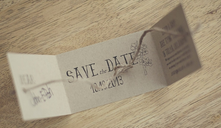 Cardboard Cutout Save The Date Ideas