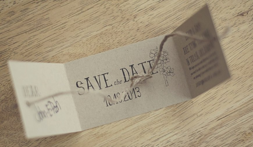 Cardboard Cutout Save The Date Ideas