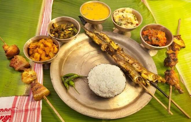 Assamese Thali For Wedding