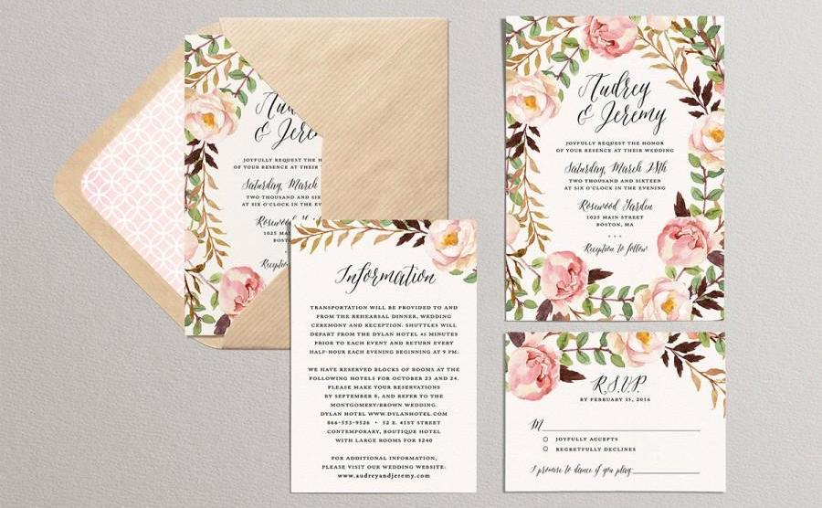 Water Color Theme Wedding Cards