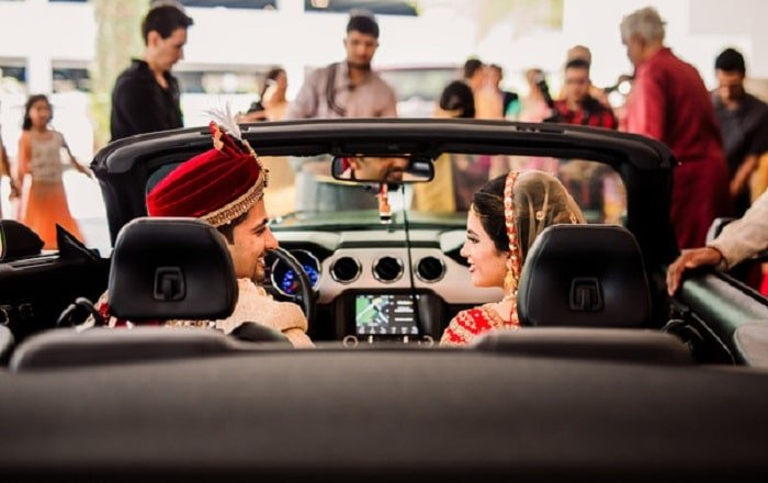 inside the car