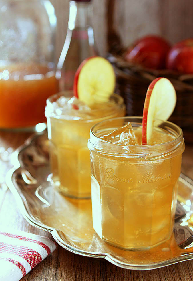 Sweet Honey Bourbon Cider Cocktails