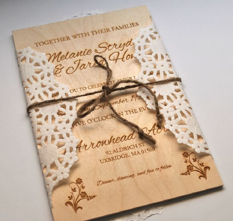 Wooden Invitation Cards