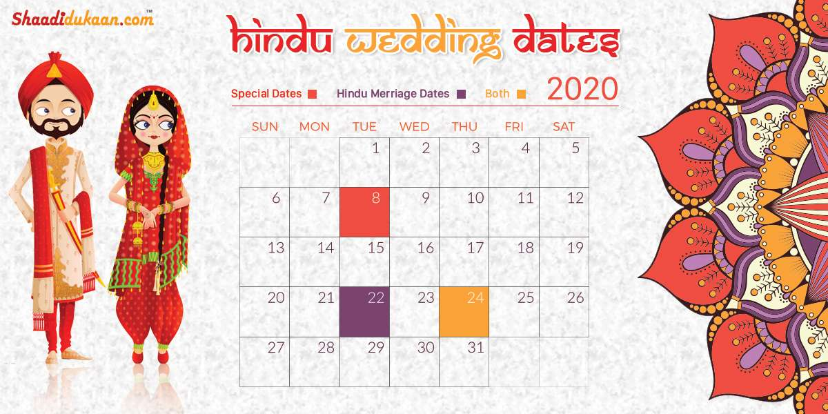 Auspicious Wedding Dates In 2020, Shubh Vivah Muhurat 2020 - Hindu