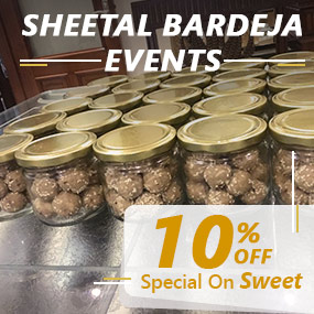 Order dal pinni and besan barfi for baby announcement, weddings, greh pravesh, Prashad for Puja and get 10% discount