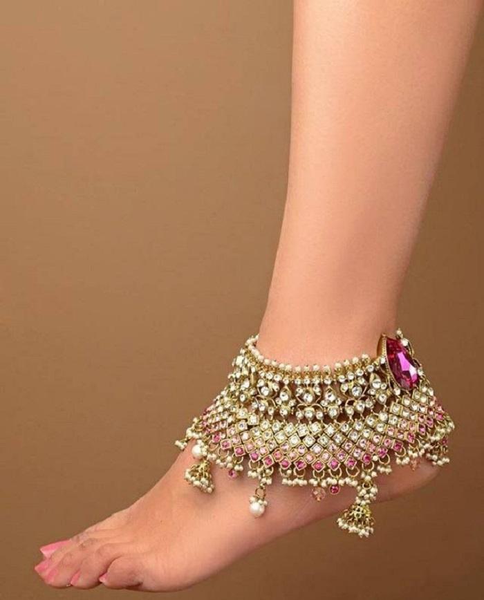 unique anklet designs for bride