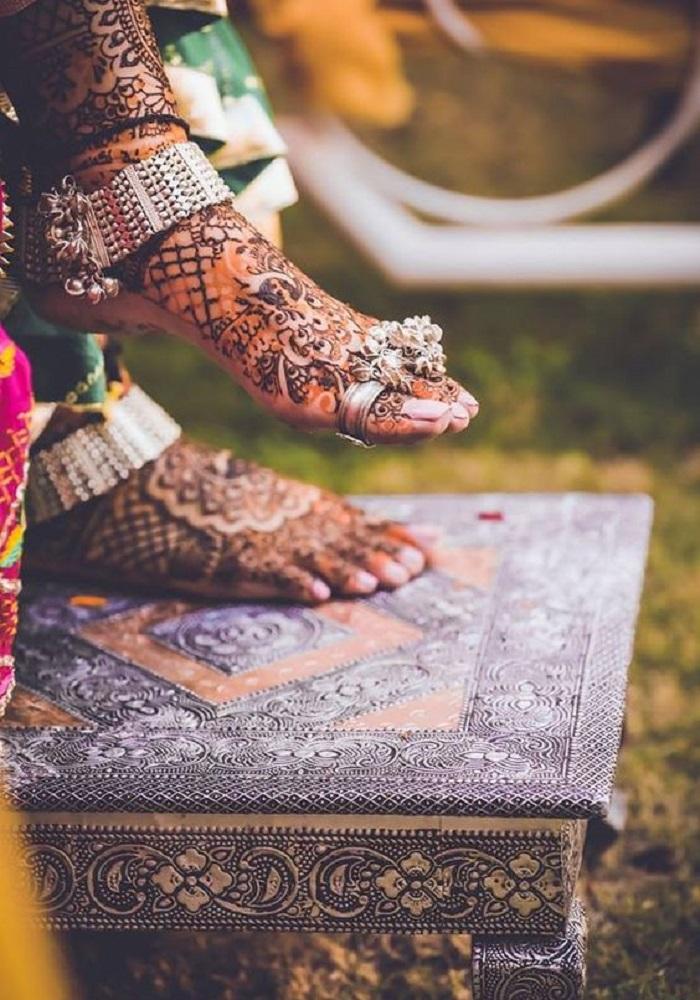silver anklet designs