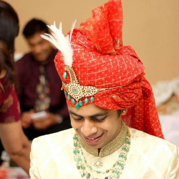 shimmering beads turban