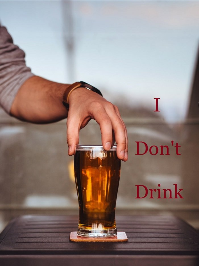 person who don't drink