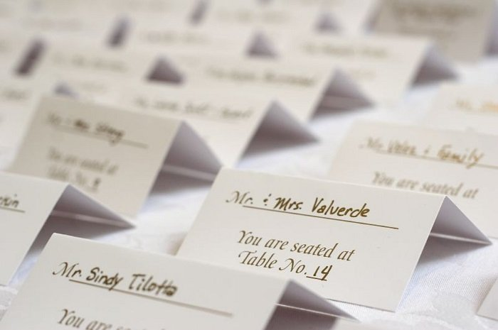 list of guests in wedding