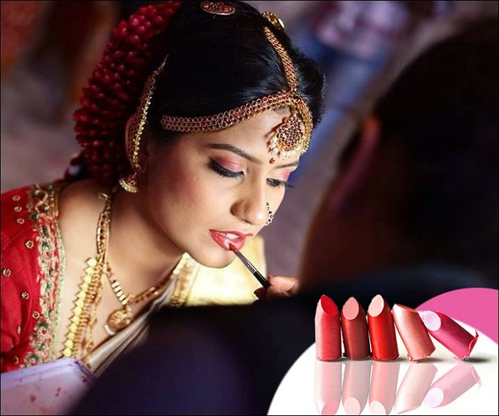 lip make up for bride