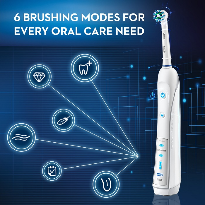 oral b white 7000 smart series electric toothbrush