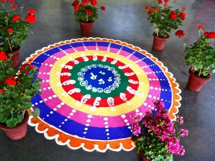 rangoli design for wedding home decoration