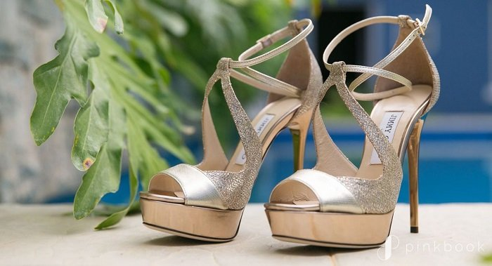 spare pair of bridal footwear