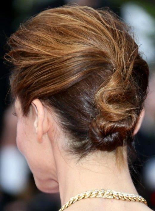 Easy Twisted Bun - juda hairstyle