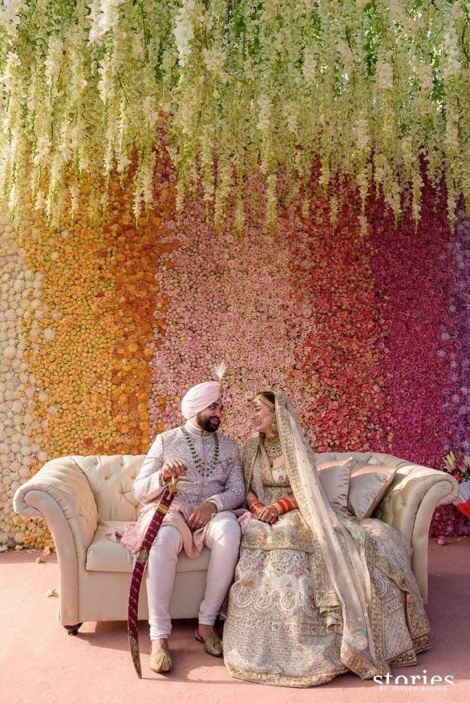 Floral Dreamland theme wedding idea
