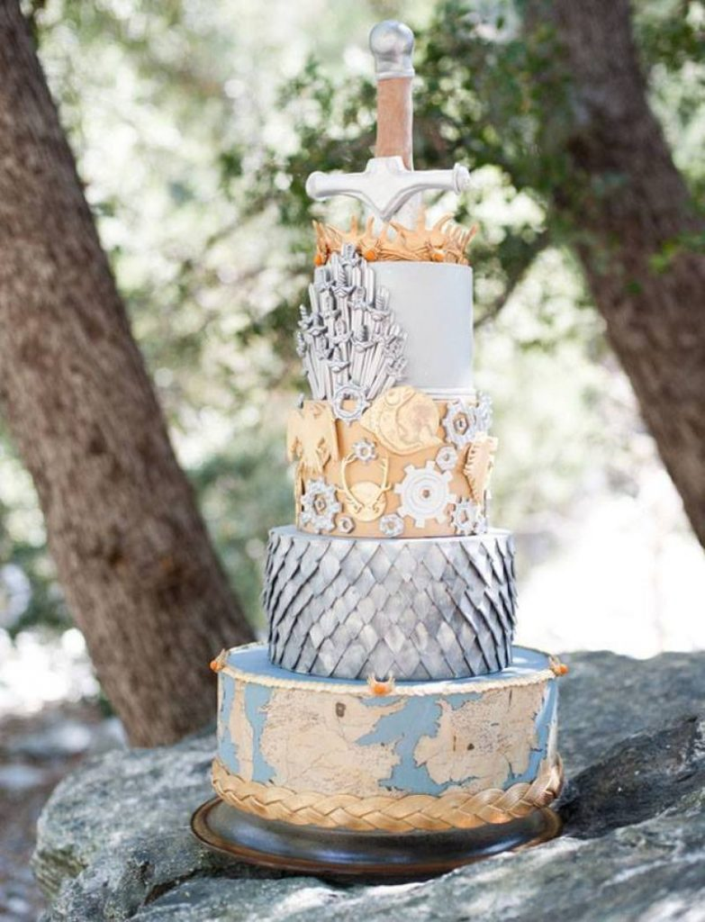 Game Of Thrones theme wedding cake