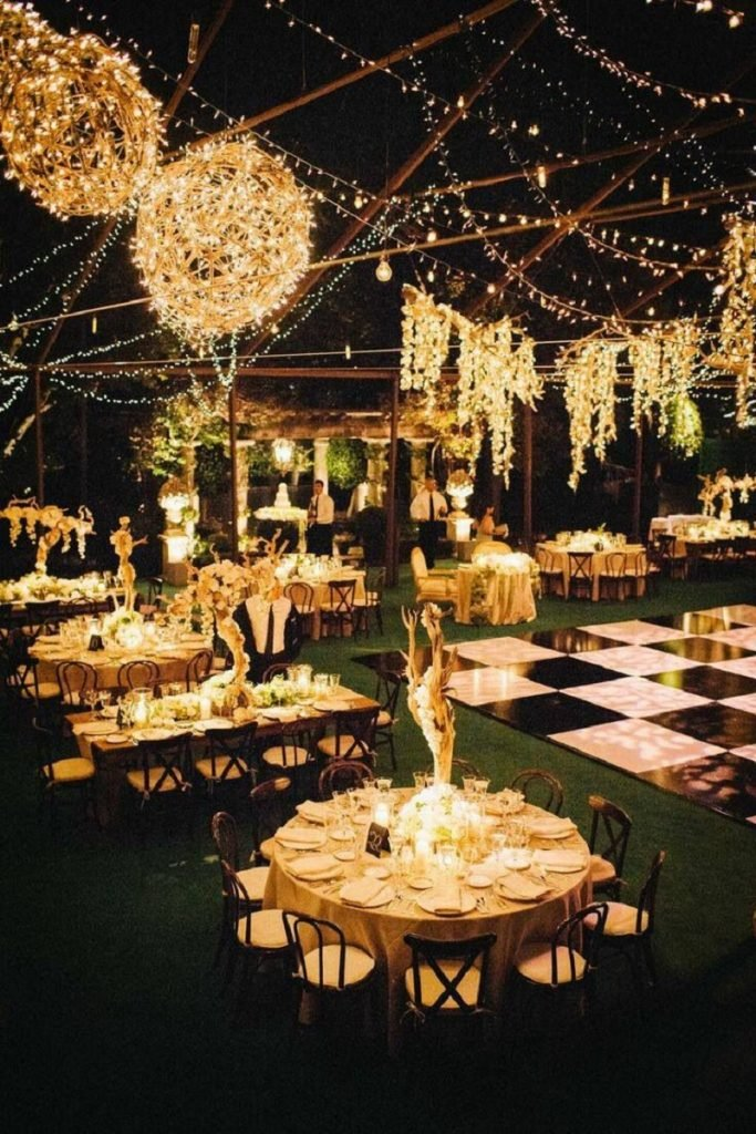 Glittering Lights theme wedding ideas