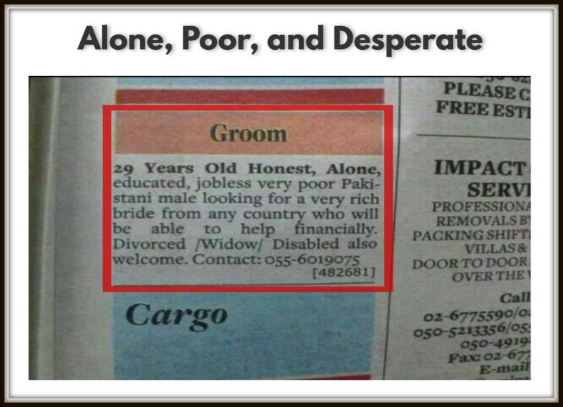 Alone, Poor, and Desperate