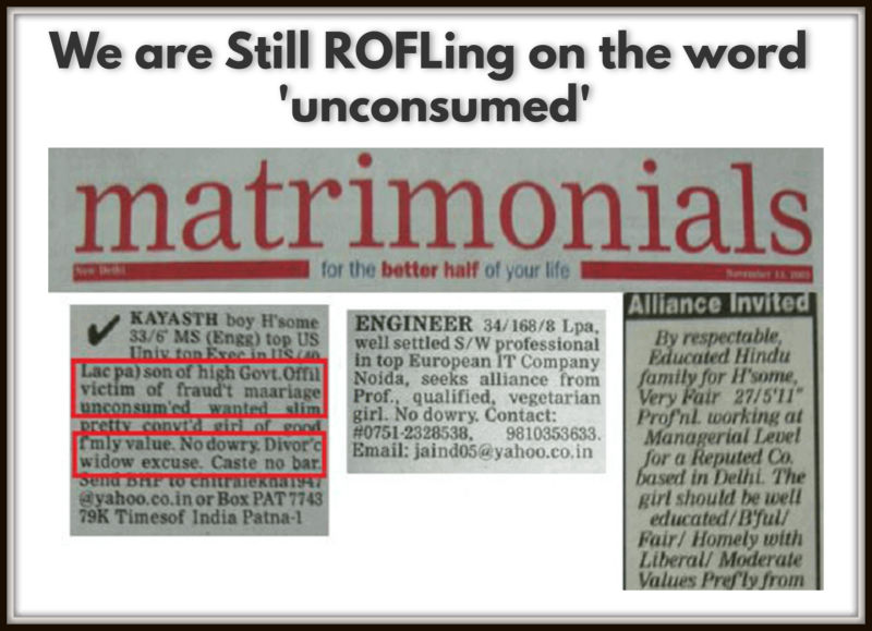 We are Still ROFLing on the word 'unconsumed'
