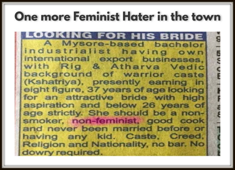 One more Feminist Hater in the town