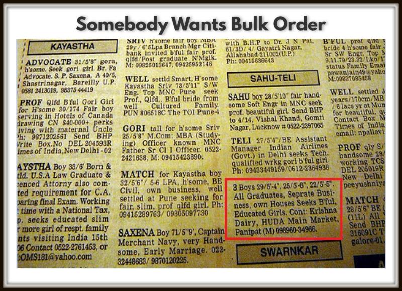 Somebody Wants Bulk Order