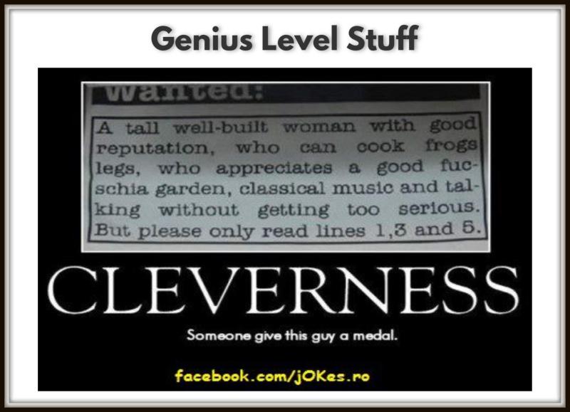 Genius Level Stuff