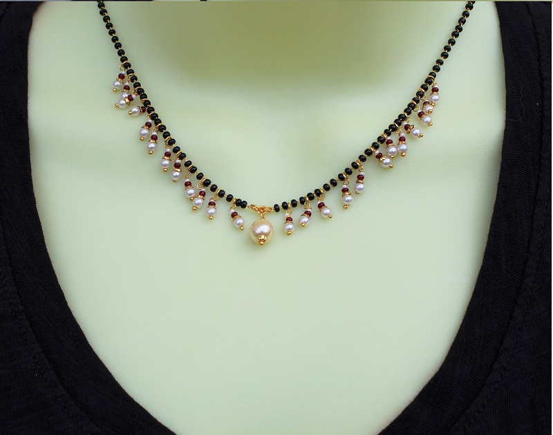 Micropearls mangalsutra