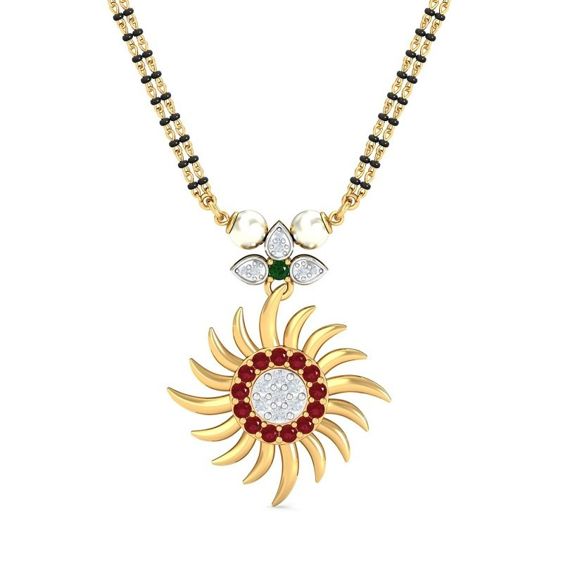 Enchanting Sunflower mangalsutra