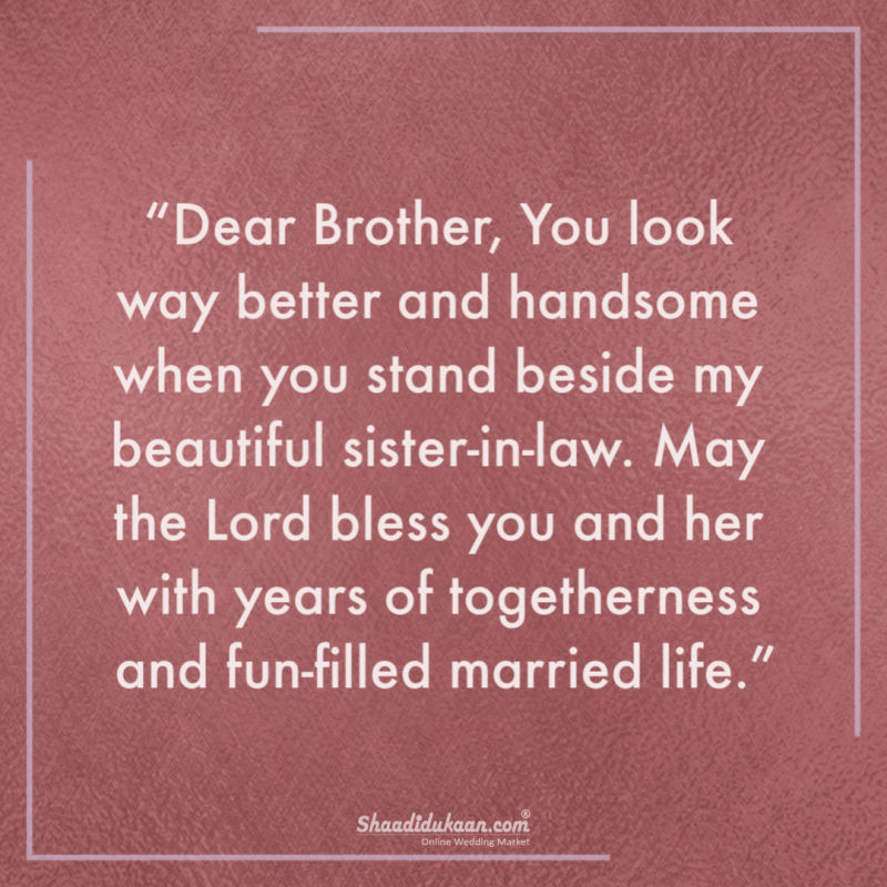 Best Wedding Anniversary Wishes for Brother