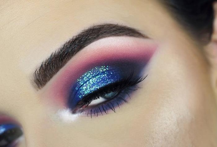 dramatically colorful eyes makeup