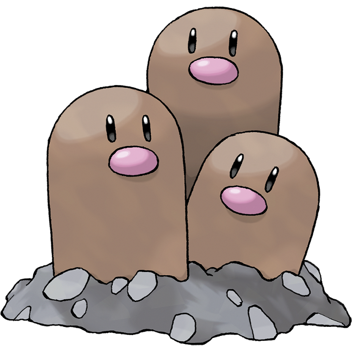 Dugtrio As The Little Kids