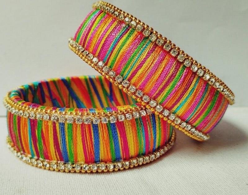 multi colour thread bangle