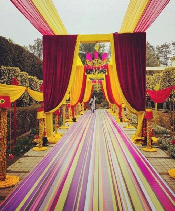 daytime day pathway ideas for wedding
