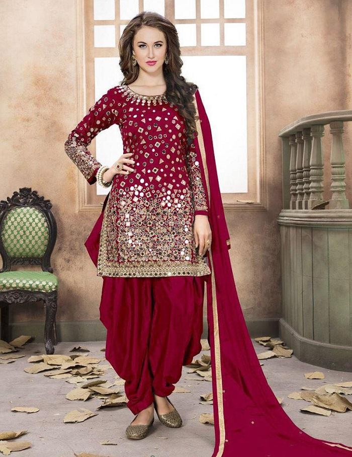 patiala suit for punjabi bride