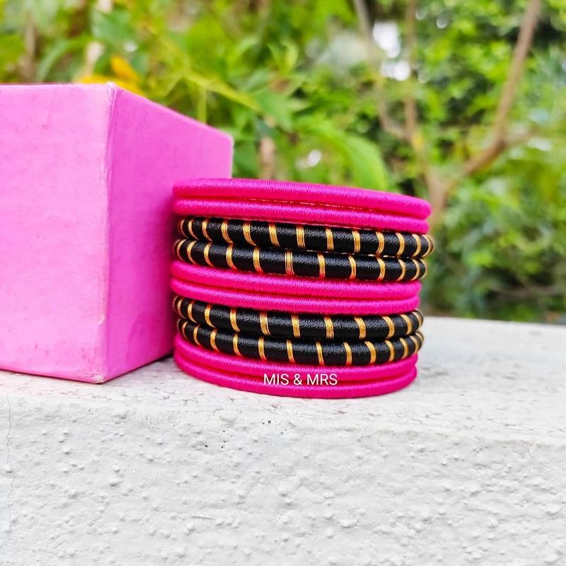 plain thread bangle designs