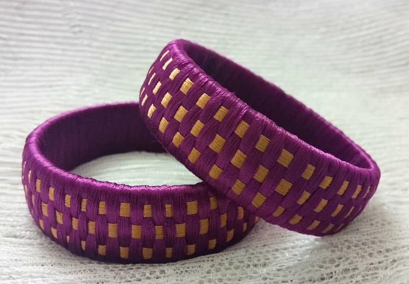 simple thread bangle designs