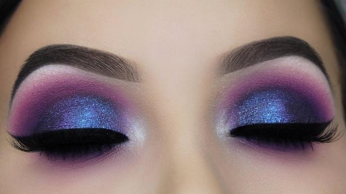 purple smoke eyes make up